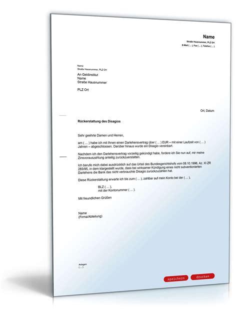 Musterbriefe Beschwerde Beschwerde Bei Bank Nichtauszahlung Disagio Muster Vorlage Zum