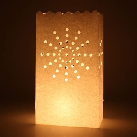 Paper Lanterns For Candles - candle bags pack of 20 white firework luminary paper