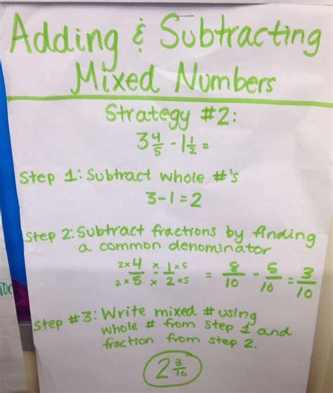 adding  subtracting mixed numbers homeschool math