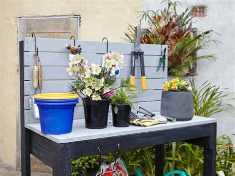 potting bench bunnings 9 cute practical garden storage solutions we love