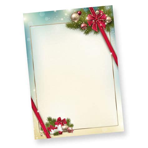 Word Vorlage Weihnachten Briefpapier Kostenlos Briefpapier Weihnachten Firmen 50 Blatt Rote Schleife Ebay
