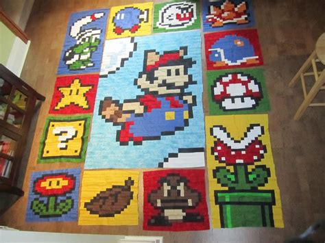 Mario Quilt by 1000 Images About Mario Quilts On Mario