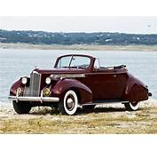 1940 Packard 120 Convertible Coupe Retro Wallpaper