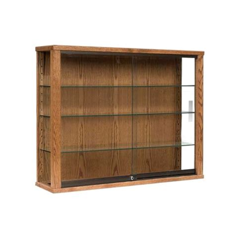 wall mounted glass display cabinet wall hanging display case with tempered glass shelves and