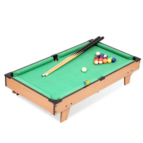 Biliard Table Toys 32 quot classic mini american pool table billiard tabletop