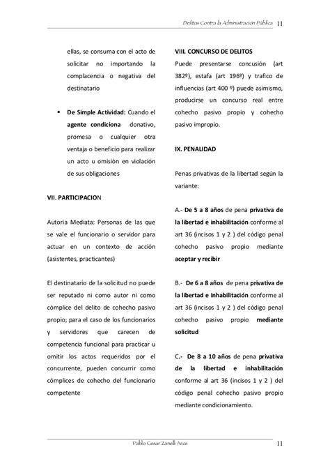 Cohecho Propio/ Impropio/ Especifico
