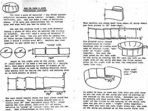 sewing pattern for zafu cushion make your own zafu boonville one drop zendo