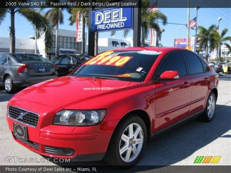 passion red  volvo   dark beigequartz leather interior gtcarlotcom vehicle
