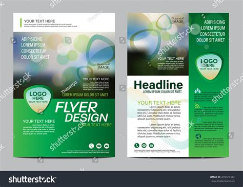 helping nature brochure template design and layout green nature brochure layout design template stock vector