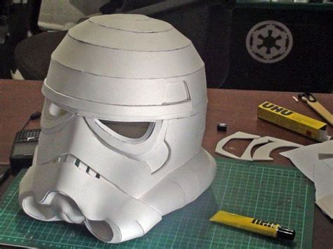 How To Make A Stormtrooper Helmet Out Of Paper - stormtrooper helmet with foam pepakura resources