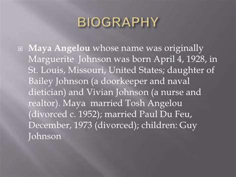 biography book about maya angelou maya angelou