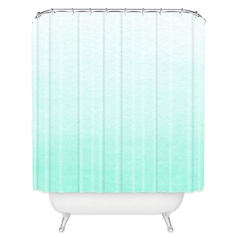 mint shower curtain deny designs social proper ombre shower curtain in mint
