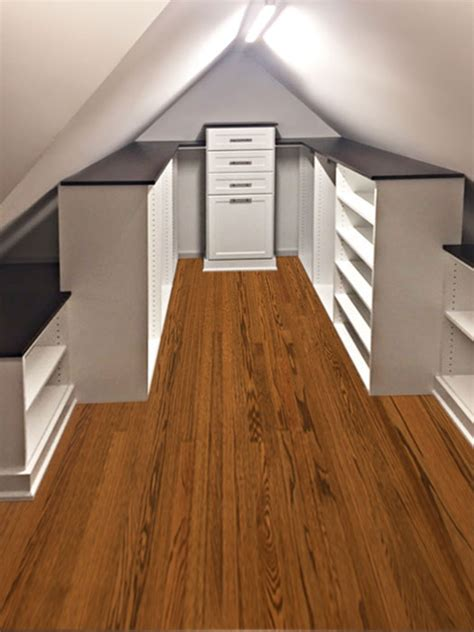 slanted ceiling closet closet storage solution for slanted ceiling and sloped walls
