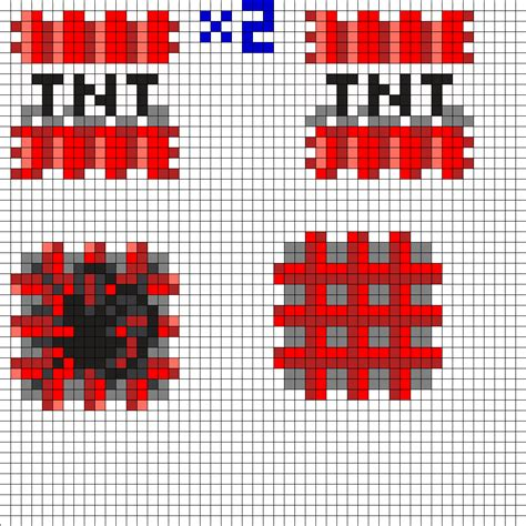 perler bead minecraft patterns 3d minecraft tnt perler bead pattern mi joseph