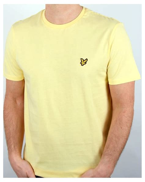 light yellow t shirt lyle and t shirt pale yellow s top crew neck