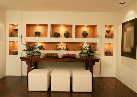 nichos en tabla roca estilo zen imagenes diseno pared