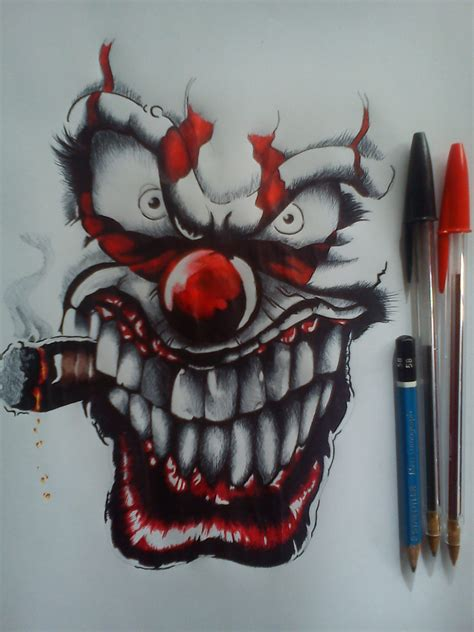 imagenes de calaveras grafitis dibujo payaso lapiz bic arte taringa