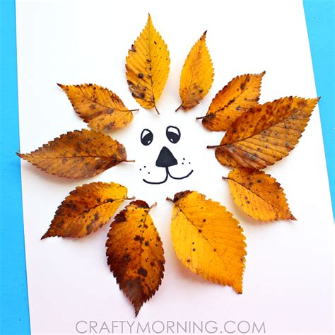 leaf craft for easy leaf craft crafty morning