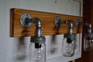 Vanity Lights Etsy Rustic Jar Vanity Light By Reclaimerdesign On Etsy
