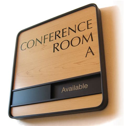 wood conference room signs sliding room signs in