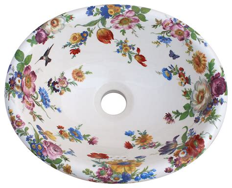 hand painted bathroom sinks scented garden hand painted sink traditional bathroom