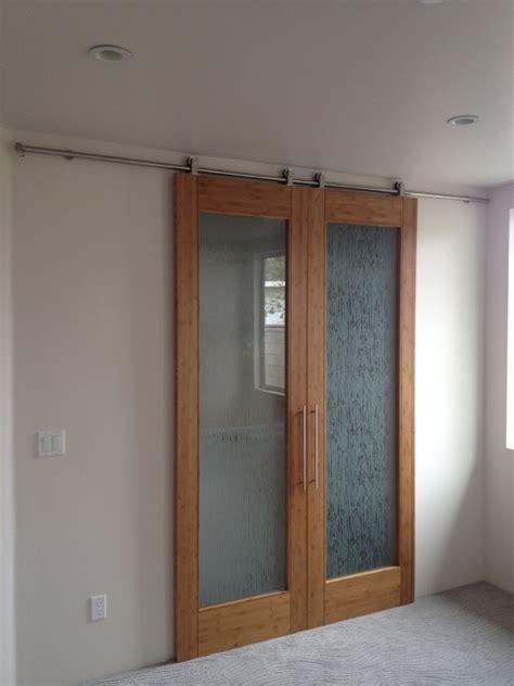 bedroom barn doors bamboo door on barn door style hardware contemporary