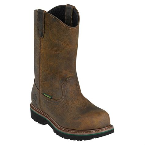 mens steel toed boots s deere steel toe waterproof wellington boots