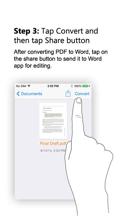 convert pdf to word iphone convert pdf to word for iphone and ipad ios easypdf