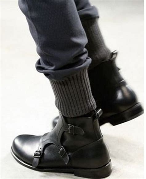 mens black leather boots handmade mens monk leather boots mens black