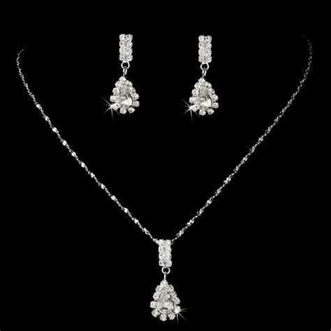 Wedding Jewelry Sets by Affordable Rhinestone Teardrop Bridesmaid Jewelry Set