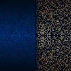 blue and gold ornaments luxury blue background with ornament gold vector 10