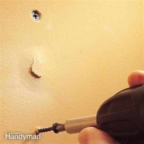 how to fix popped drywall nails and screws the family