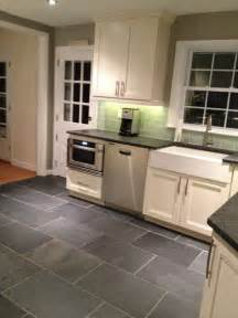 Slate Kitchen Floor White Kitchen Slate Floor Home Decoration