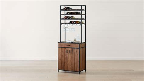 Knox Black Tall Storage Wine Tower   Reviews   Crate and