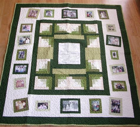 The Memory Quilt by Photo Memory Quilt Custom Designed With Your Pictures