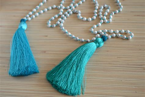 beaded necklace with tassel tassel necklace beaded necklace with tassel mala