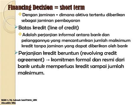 Letter Of Credit Kredit keputusan pembiayaan 1 fianncing decission