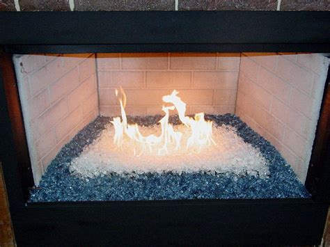 Glass Bead Fireplace Insert by Decorative Glass