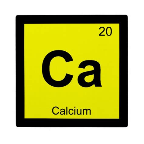 Ca Periodic Table by Ca Calcium Chemistry Periodic Table Symbol Plaque Zazzle