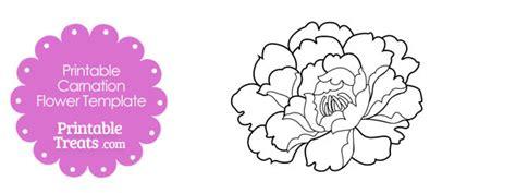 gift bag templates free printable printable carnation flower template printable treats com