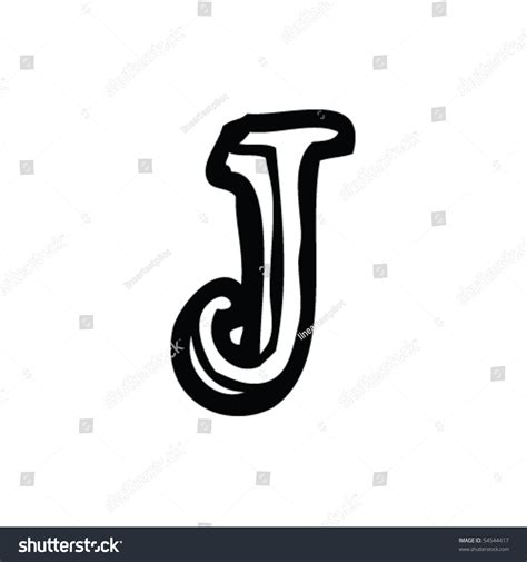 Letter J Drawing by Drawing Letter J Stock Vector 54544417