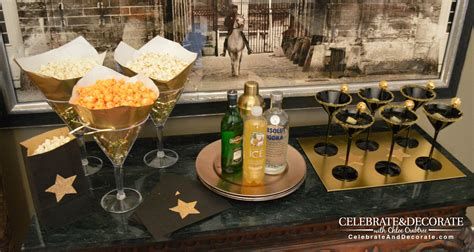 diy martini bar a magnificent martini for the academy awards celebrate