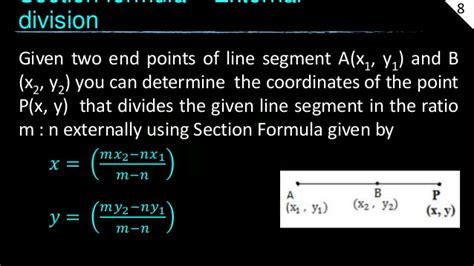 section formula for external division gre coordinate geometry