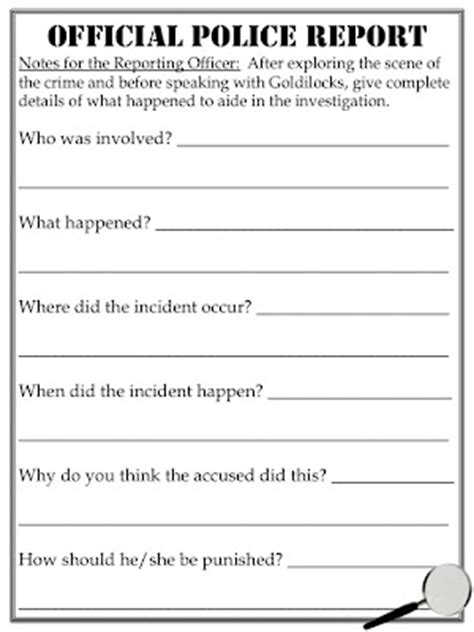Official Report Template Free Quot Official Report Quot Activity To Assess