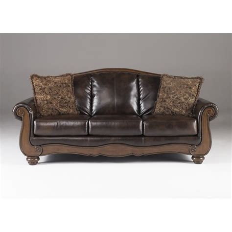barcelona faux leather sofa in antique 5530038