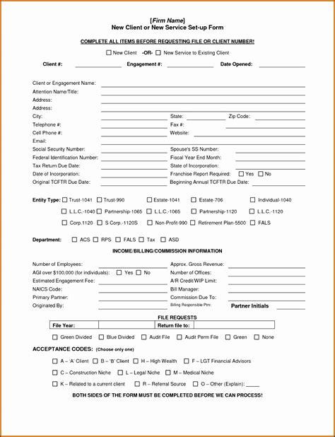6 Client Information Sheet Templates Sletemplatess Sletemplatess Customer Template