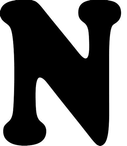 N Y L A tarefinhas modelos de letras de n a z para mural
