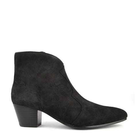 ash hurrican black suede ankle boot