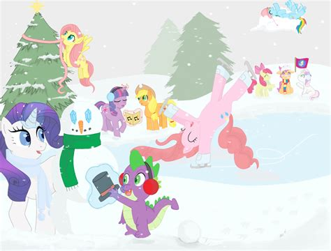mlp fim christmas vacation by teenbulma on deviantart