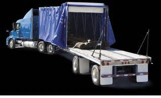 Flatbed Curtain Side Trailers Fastrak 174 Flatbed Trailer Rolling Tarp System For Sale
